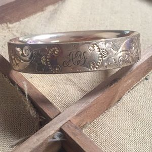 Jewelry - Victorian Gold Filled Bangle Bracelet Etched